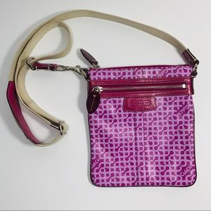 Coach Signature Poppy Crossbody Bag Purple